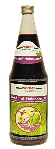 Werder Frucht Bio Apfel-Holundersaft